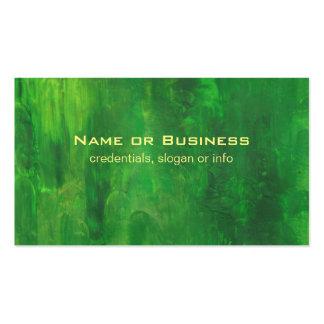 Pintura aleatória do abstrato do verde dos cartão de visita