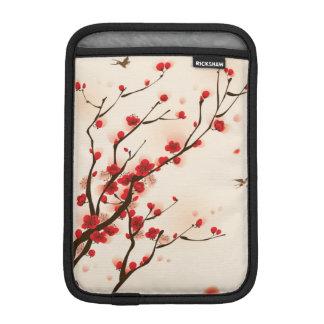 Pintura asiática do estilo, flor da ameixa no capa de iPad mini