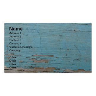 Pintura azul da casca cartão de visita
