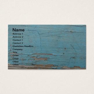 Pintura azul da casca cartão de visitas
