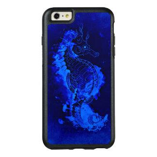 Pintura azul do cavalo marinho