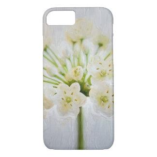 Pintura bonita da flor do alho-porro capa iPhone 7