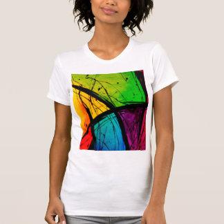 Pintura brilhante Funky da arte abstracta Camisetas