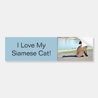 Pintura calma do gato Siamese Adesivo Para Carro