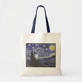 Pintura clássica da noite estrelado de Van Gogh Bolsa Tote