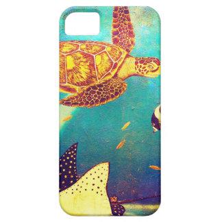 Pintura colorida da tartaruga de mar do oceano capa barely there para iPhone 5