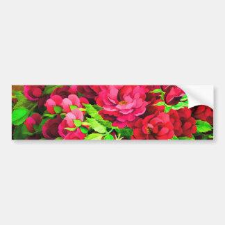 Pintura cor-de-rosa/vermelha das flores adesivo para carro