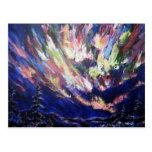 Pintura da arte abstracta da Aurora da aurora Cartoes Postais