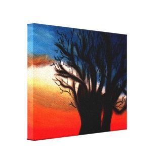 Pintura da árvore do Baobab Impressão Em Canvas