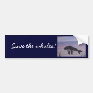 Pintura da baleia de Humpback Adesivo