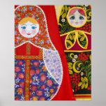 Pintura da boneca de Matryoshka do russo Impressão