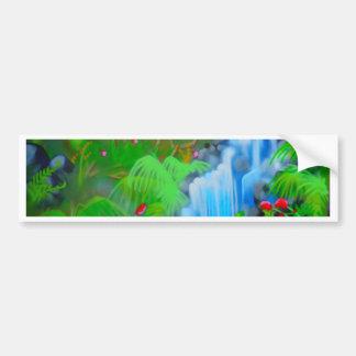 Pintura da cachoeira adesivo para carro