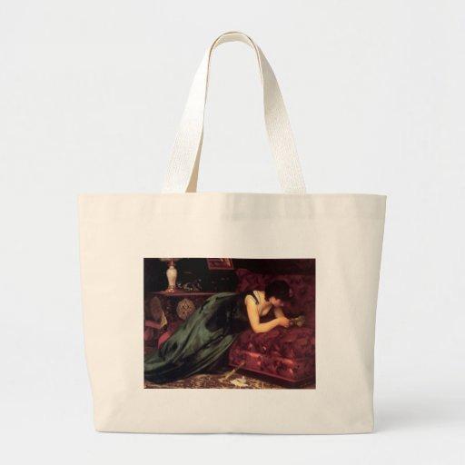Pintura da carta de amor da leitura da mulher bolsa para compra