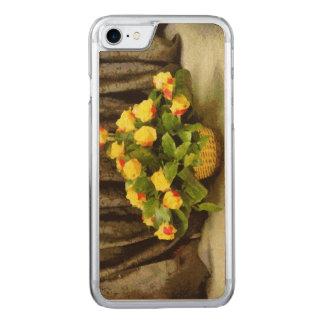 Pintura da cesta dos rosas amarelos capa iPhone 8/ 7 carved