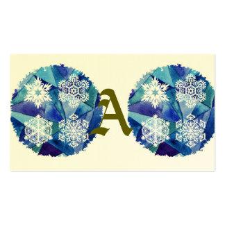 pintura da cor de água, crystalz do gelo, inverno, cartão de visita