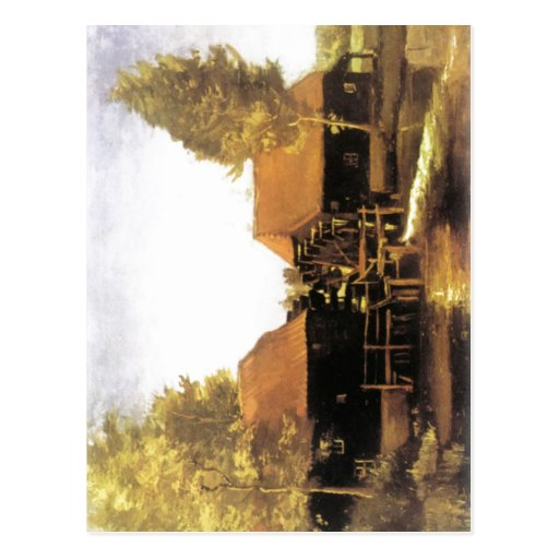 Pintura da descrição sumária do watermill por Vinc Cartões Postais