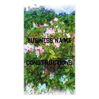 Pintura da foto da flor cartão de visita