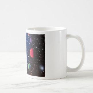 Pintura da galáxia do espaço da arte da pintura caneca de café