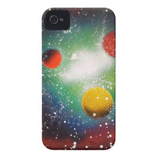 Pintura da galáxia do espaço da arte da pintura capinha iPhone 4