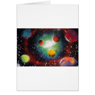 Pintura da galáxia do espaço da arte da pintura cartão