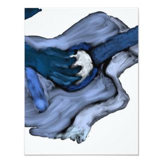 Pintura da guitarra acústica, inversão azul convites
