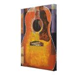 Pintura da guitarra impressão de canvas esticadas
