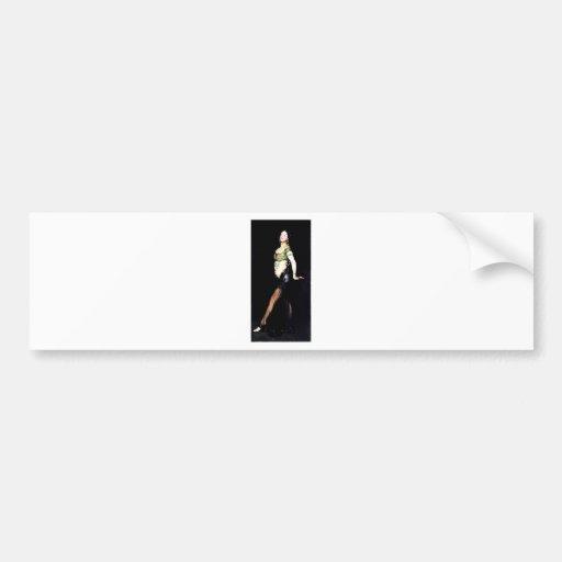 Pintura da mulher do dançarino exótico adesivos