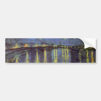 Pintura da noite estrelado de Van Gogh Adesivo Para Carro