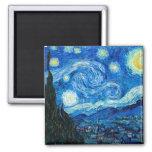 Pintura da noite estrelado pelo pintor Vincent van Imã De Refrigerador