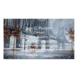 Pintura da ponte, chovendo na ponte cartão de visita