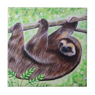 Pintura da preguiça do smiley