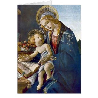 Pintura da religião do livro infantil de Madonna Cartão Comemorativo