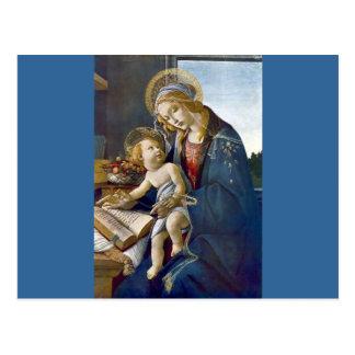 Pintura da religião do livro infantil de Madonna Cartão Postal