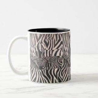 Pintura da zebra de 3 D na caneca