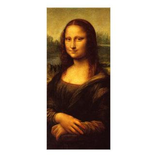 Pintura das belas artes de Leonardo da Vinci Mona 10.16 X 22.86cm Panfleto