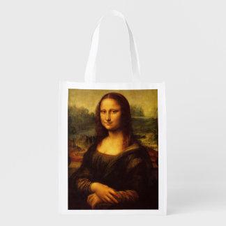 Pintura das belas artes de Leonardo da Vinci Mona Sacolas Reusáveis