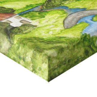 Pintura das canvas da aguarela