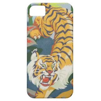 pintura das capas de iphone do tigre pelo vintage capas para iPhone 5
