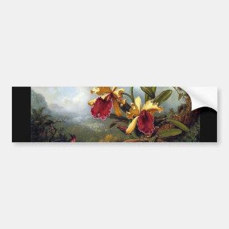 Pintura das orquídeas do colibri adesivo para carro