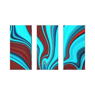 pintura de 3 painéis impressão de canvas esticada