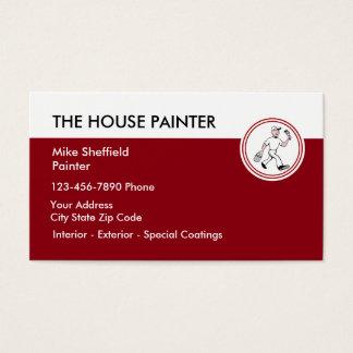 Pintura de casa cartão de visitas