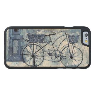 Pintura de cena azul da rua da bicicleta