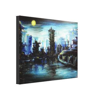 Pintura de Futuretown Impressão Em Tela
