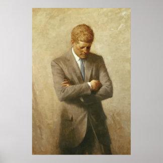 Pintura de John F. Kennedy Pôster