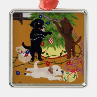 Pintura de Labrador do Natal Ornamentos Para Arvore De Natal