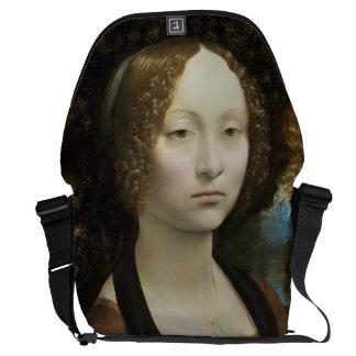 Pintura de Leonardo da Vinci Ginevra de' Benci Bolsas Mensageiro