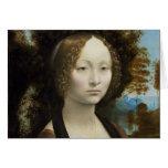 Pintura de Leonardo da Vinci Ginevra de' Benci Cartão De Nota