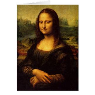 Pintura de Leonardo da Vinci Mona Lisa Cartão