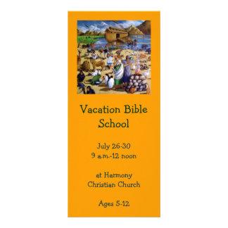 PINTURA DE NOAH: CONVITE DA ESCOLA DA BÍBLIA DAS F 10.16 X 22.86CM PANFLETO