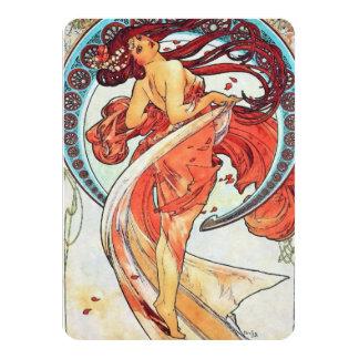 Pintura de Nouveau da arte do vintage da dança de Convite 11.30 X 15.87cm